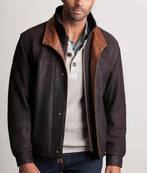 Efren Mens Casual Romano Leather Jacket