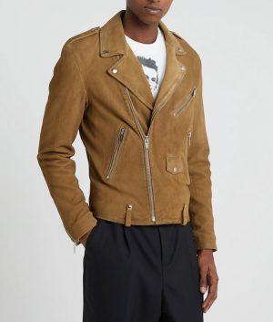 Frederick Mens Lapel Collar Slimfit Beige Jacket
