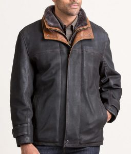 Jack Mens Black Frost Leather Coat