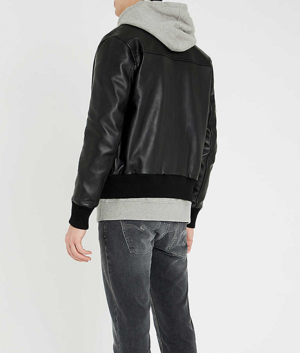 Jeremy Men Slimfit Black Bomber Jacket