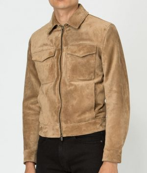 John Mens Slimfit Casual Style Color Suede Leather Jacket