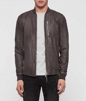 Lance Mens Atlantic Grey Slimfit Bomber Jacket