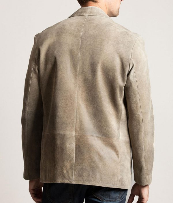 Mens DIEGO Distressed Casual Lambskin Leather Jacket