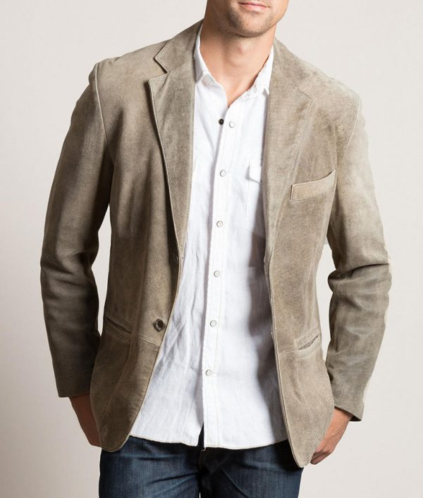 Lawrence Mens DIEGO Distressed Casual Leather Jacket