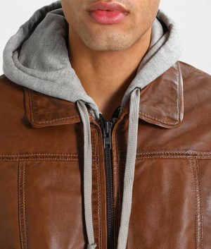 McCullough Mens Bomber Leather Jacket