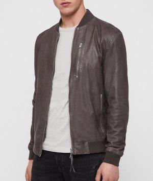 Lance Mens Slimfit Bomber Leather Jacket