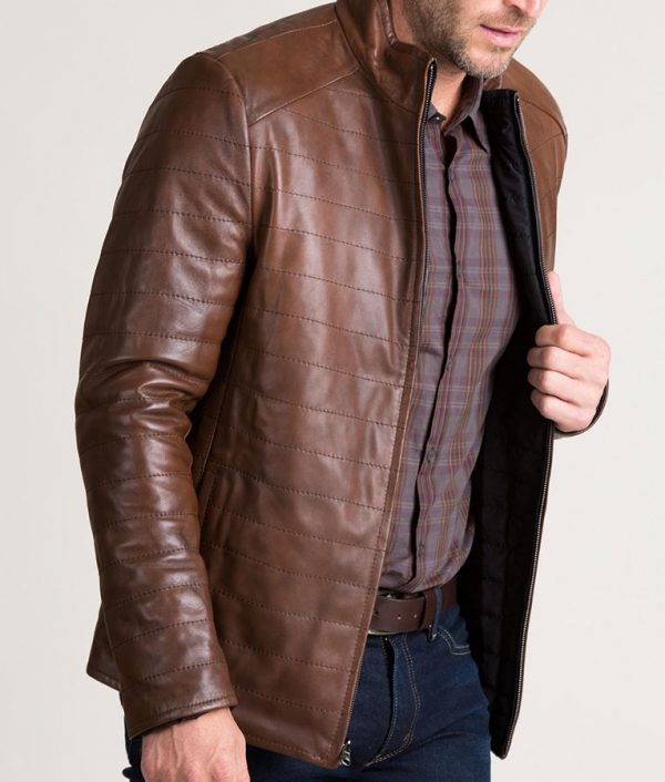 Chavez Mens Quilted Lambskin Leather P