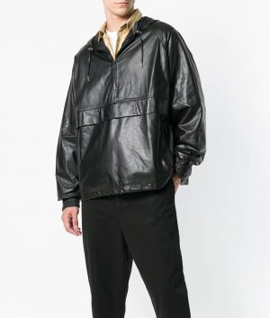 Larry Mens Slimfit Casual Style Black Leather Jacket