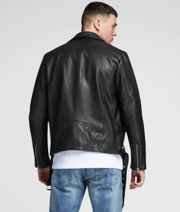 Brad Mens Turn Down Collar Slimfit Leather Jacket