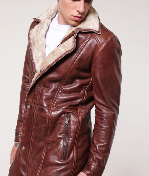 Richard Mens Dark Cognac Leather Jacket