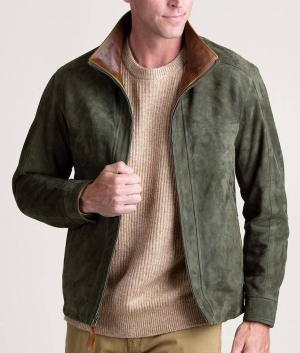 Welch Mens Casual SAGE Lambskin Leather Jacket