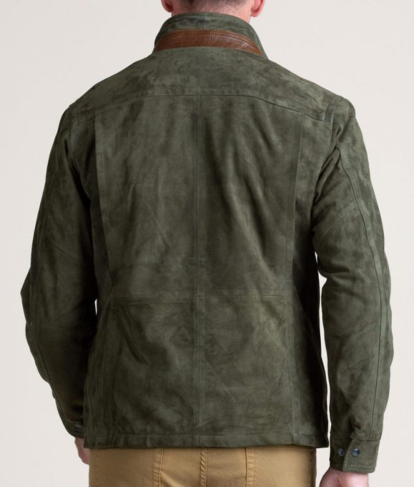 Welch Mens Casual SAGE Lambskin Suede Leather Jacket