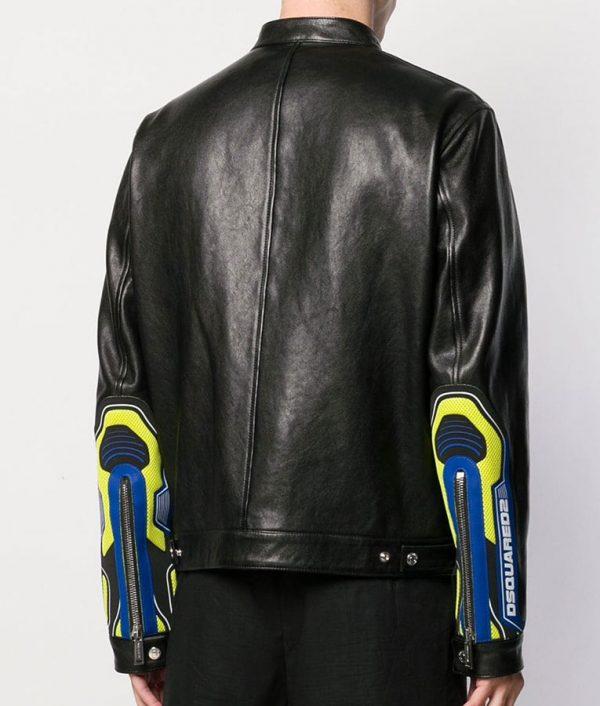 Arthur Mens Cafe Racer Style Biker Details Leather Jacket