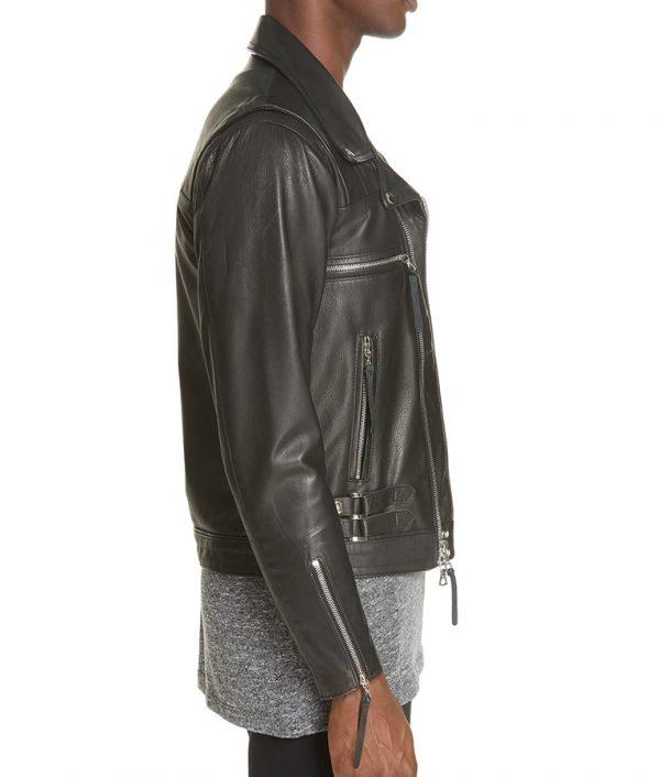 Mens Lapel Collar Slimfit Black Riders Lea