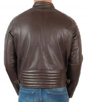 Billy Mens Slimfit Padded Shoulder Biker Jacket