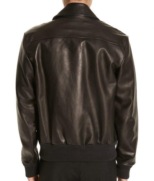 Dvorak Mens Turn Down Collar Slimfit Brown Leather Jacket