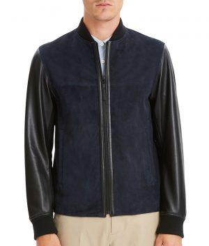 Mens Slimfit Casual Style Cafe Racer Bomber Leather Jacket
