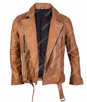 Danny Mens Lapel Collar Style Brown Jacket