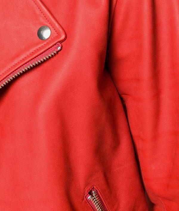Mens Lapell Colar Biker Leather Jacket