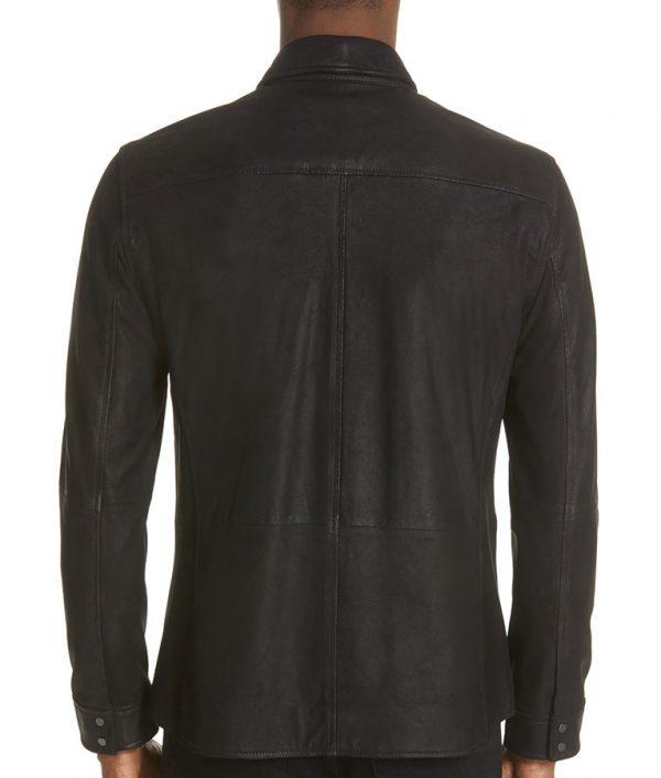 Bane Mens Slimfit Casual Black Leather Jacket