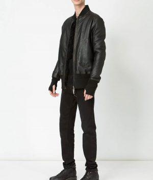 Quesada Mens Slimfit Casual Style Bomber Leather Jacket