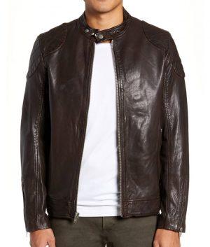 Sykes Mens Slimfit Cafe Racer Style Padded Shoulders Jacket