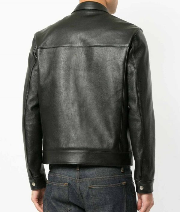 Aaron Mens Turn Down Collar Slimfit Leather Jacket