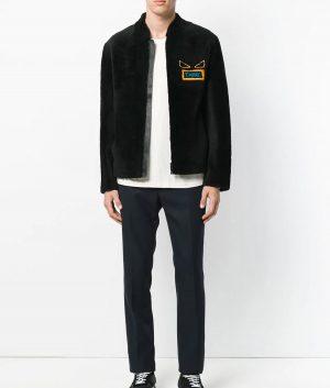 Mens Slimfit Casual Black Think Bomber Leather Jacket