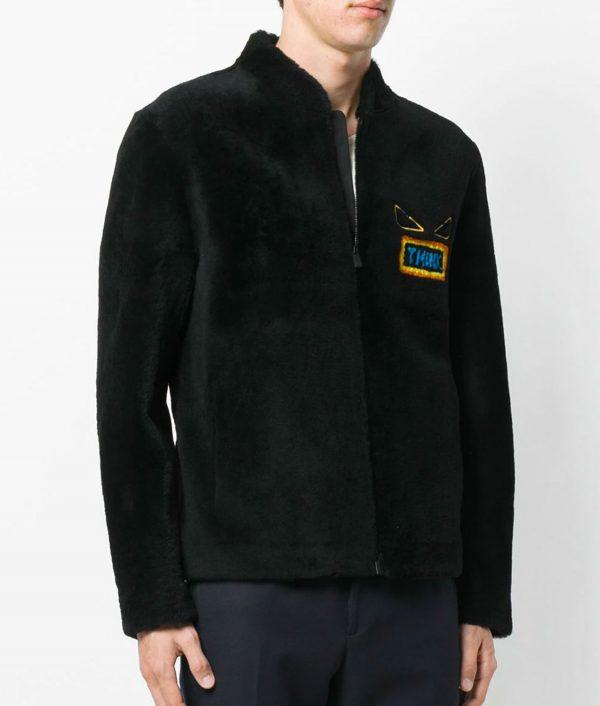 Anthony Mens Slimfit Casual Black Think Bomber Leather Jacket