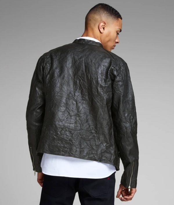 Arnold Mens Slimfit Cafe Racer Style Motorcycle Jacket
