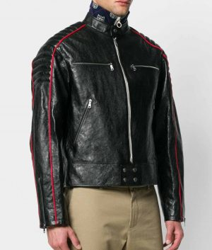 Stump Mens Slimfit Cafe Racer Style Leather Jacket