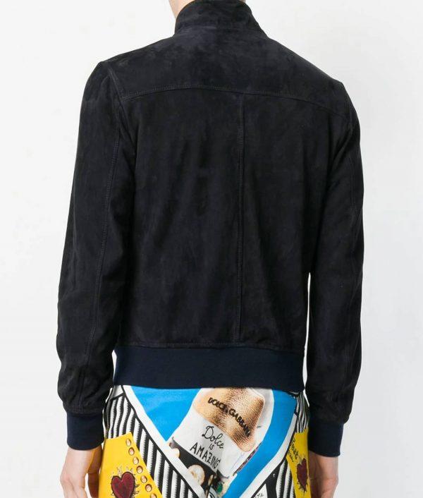 Corona Mens Turn Down Collar Slimfit Style Bomber Leather Jacket