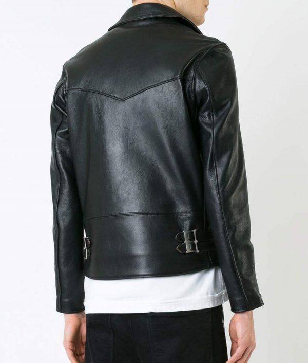 Mens Lapel Collar Vintage Style Black Bik