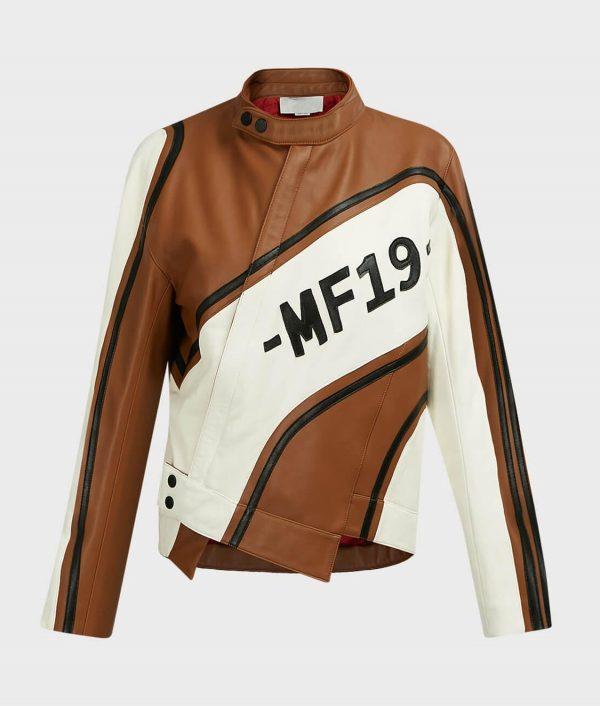 Ellen Women's Leather Biker Jacket