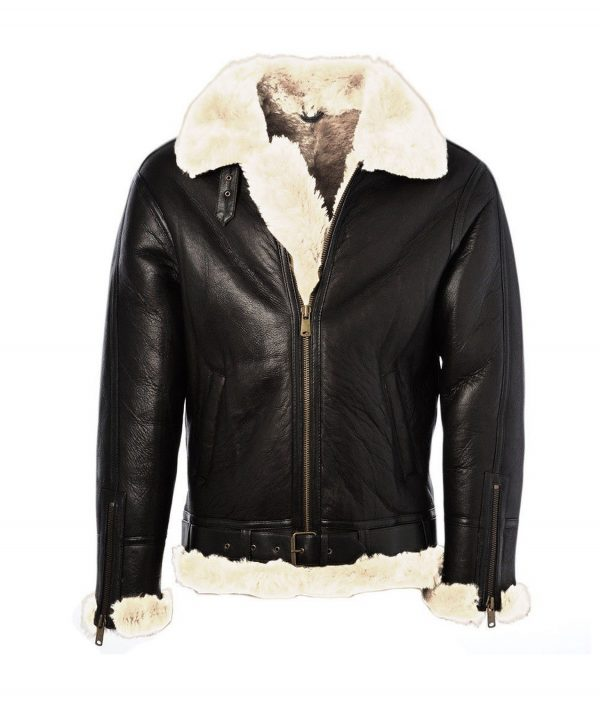 Roger Mens Black Aviator Jacket
