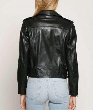 Christopher Womens Classic Slimfit Biker Jacket