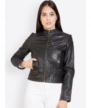Dawn Womens Slimfit Style Leather Jacket
