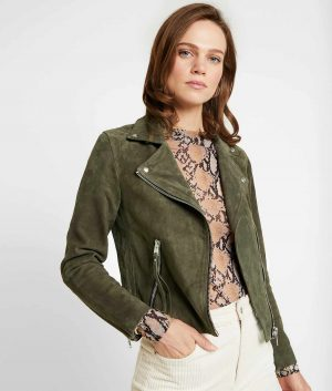 Dora Womens Lapel Collar Biker Jacket
