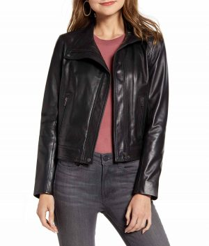 Dorothy Stand Collar Slimfit Womens Jacket