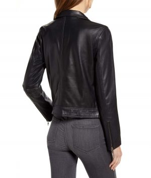 Dorothy Womens Stand Collar Slimfit Cafe Racer Jacket