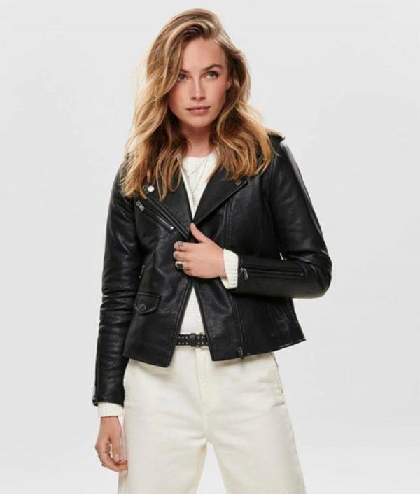 Eddie Womens Casual Black Slimfit Jacket