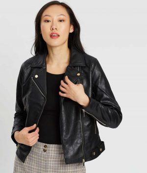 Effie Womens Slimfit Style Black Jacket