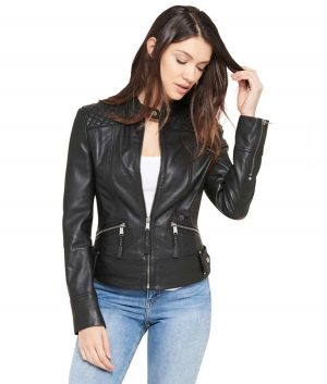Geneva Womens Quilted Shoulder Jacket