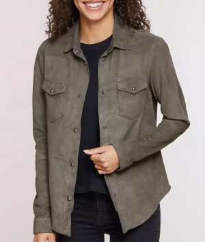 Gertrude Womens Suede Jacket