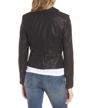 Jeannine Notch collar Womens Moto Jacket