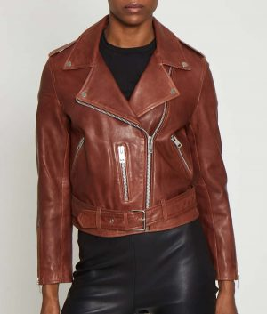 Jeri Womens Leather Jacket