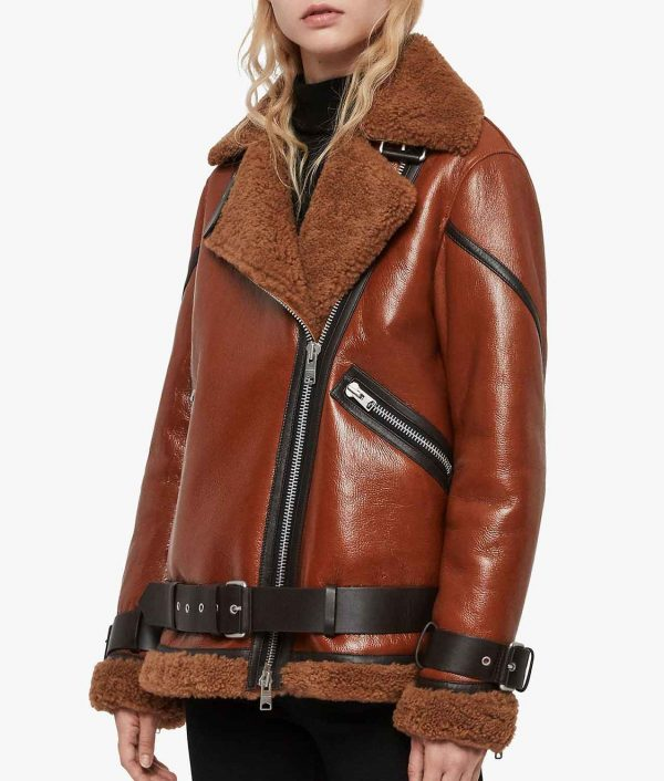 Joanne Womens Shearling Jacket