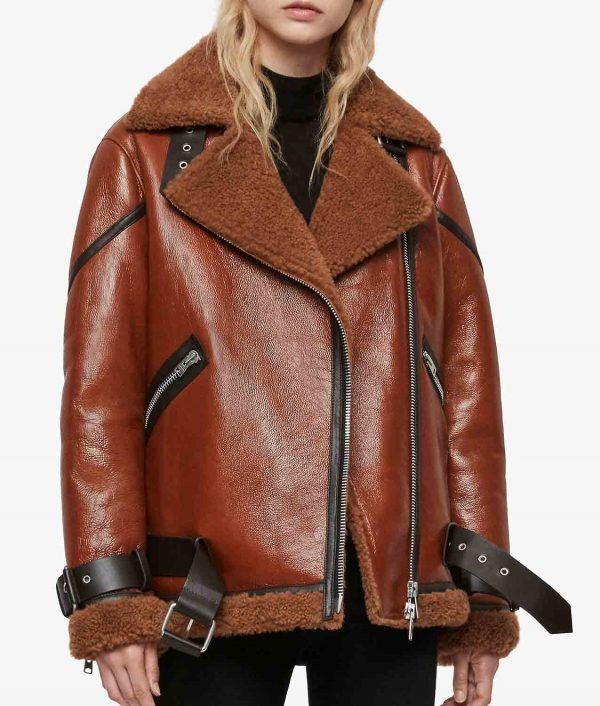 Joanne Womens Rust Brown Jacket