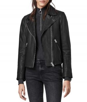 Jodi Womens Notch Collar Black Jacket