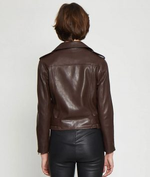 Joellen Womens Classic fit Chocolate Brown Jacket